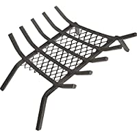 "(70cm ) - Rocky Mountain Goods Fireplace Grate with Ember Retainer - 1/2"" Heavy Duty Cast Iron -Heat treated for hottest fires - Retainer for cleaner more efficient fire - Weld has (70cm )"