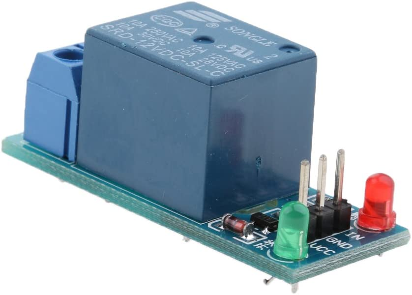 H HILABEE 1 Channel DC 12V Low Level Power Relay Module Board For Arduino