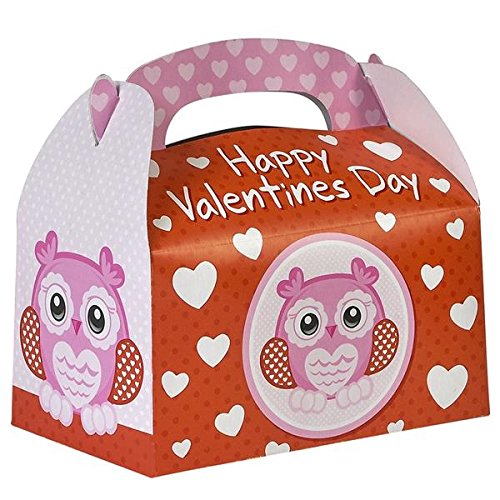 Happy Valentine#039s Day Treat Boxes Pack of 12