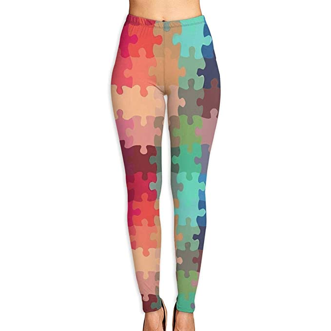 4c5cedf147be3 Asinpinoon New Autism Awareness Puzzle Printed Yoga Pants High Waist  Fitness Plus Size Workout Leggings Tommy