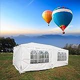 Okapa Canopy 10'x 20' Wedding Party Gazebos Heavy Duty Outdoor Event Tent Waterproof Shelter White 6 Removable Sidewalls