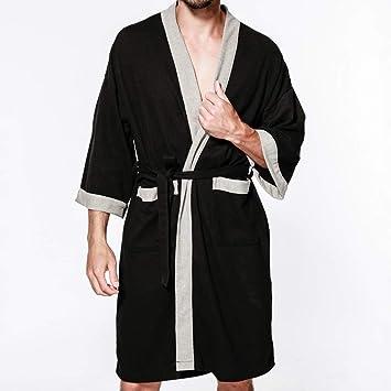 Ropa de Dormir, Batas De Baño para Hombres Bata De Baño Toallas Pijamas Lujo Extra