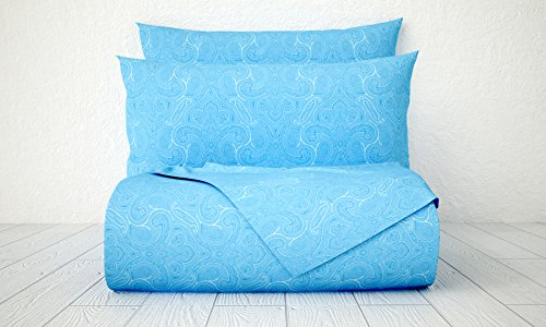 Xara Luxury 33251 4 Piece Paisley 1800 Series Printed Cotton Essential Embossed Tone on Tone Bed Sheet Set, Queen, Light - New In Jersey Macy