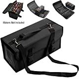 LANIAKEA 120 Slots Markers Pens Case, Black, Super Large Capacity Organizer, Inserting Multi-layer