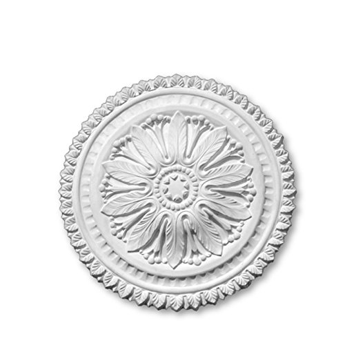 Plaster Ceiling Rose Medium 480mm | Handcrafted - R25 Cornice Covings Ltd