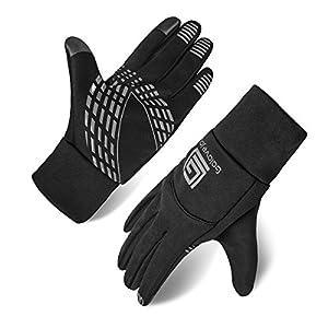 Opard Winter Gloves Phone Touch Screen Waterproof Warm Inner Thermal Fleece for Men Women Work Sports Outdoor Motorcycle Cycling (Black) Size-S