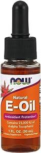 NOW Supplements, Natural Vitamin E-Oil Liquid (D-Alpha Tocopherol), Antioxidant Protection*, 1-Ounce