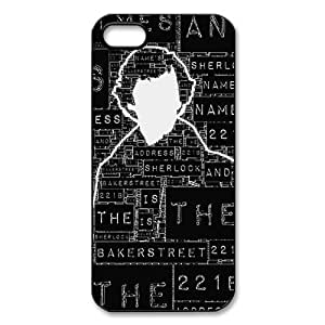 Iphone 5s Case, Sherlock Durable Custom Protective TPU Case for iPhone 5/5s (Laser Technology)