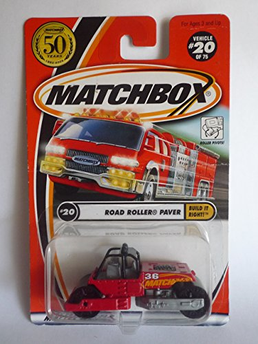 Matchbox 2002-20/75 50 Years Build It Right RED Road Roller Paver 1:64 Scale