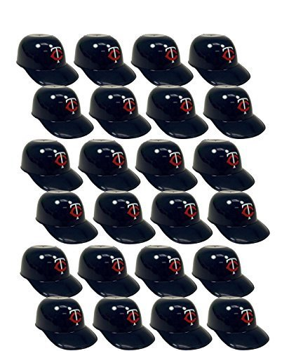 MLB Mini Batting Helmet Ice Cream Sundae/ Snack Bowls-24 Pack-Minnesota Twins