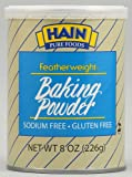 Hain Pure Foods Featherweight Baking Powder -- 8 oz pack of 3