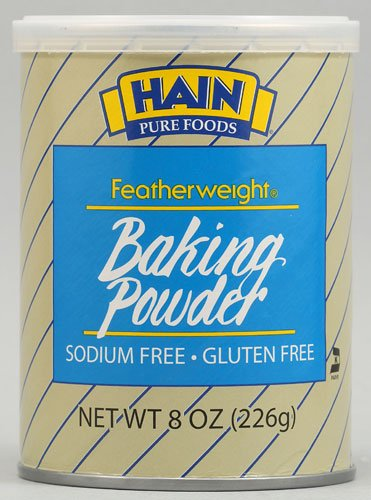 Hain Pure Foods Featherweight Baking Powder -- 8 oz - 2 pc