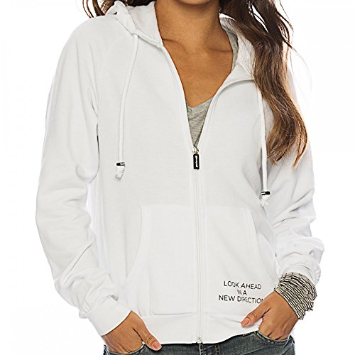 Peace Love Oprah White Fleece Zip Hoodie X-Small by Peace Love World (Image #1)'