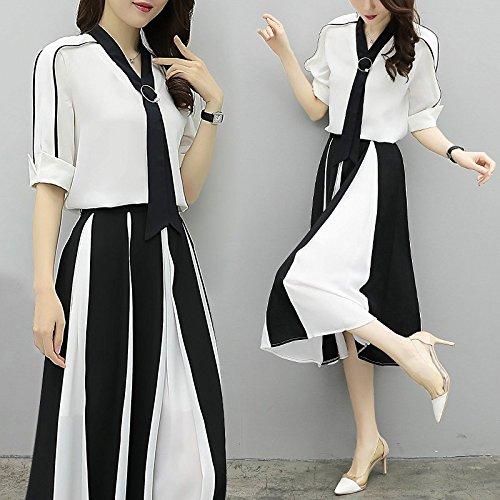 Deux Robes 2XL 2018 l'image pices Jupe la l'usure de de Femmes Mousseline de Longue Jupe MiGMV Couleur de de Robe l't Haute Taille H8wxzH
