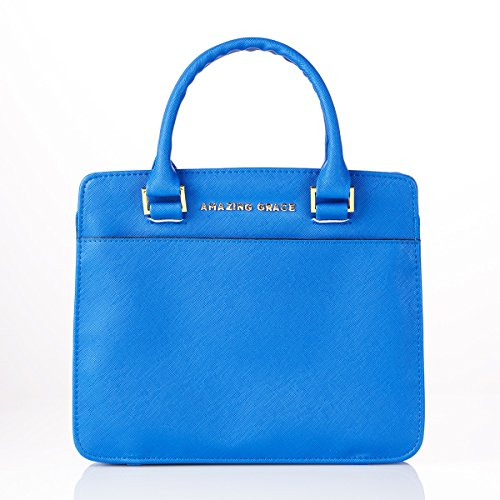 Amazing Grace Purse-Style Bible Cover, Blue, Large