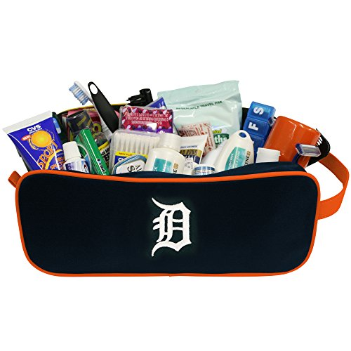 (Charm14 MLB Detroit Tigers Travel Case with Embroidered Logo)