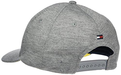 Fabricante única para Talla Hombre Béisbol Tommy Hilfiger 027 Grey Gris Gorra del Mid Talla Cap Varsity de w64qp