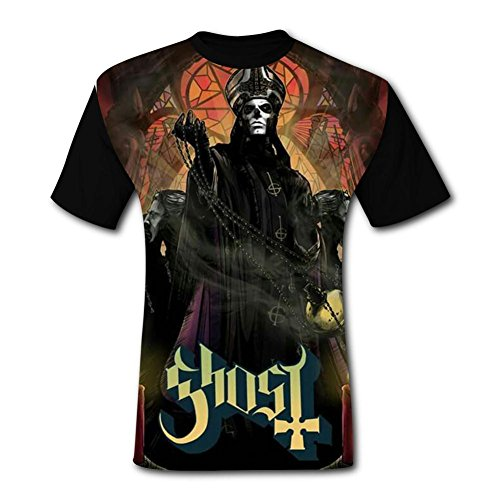 Hhcxvjs11 3D Printed Ghost Power Fahion Casual Short Sleeve T Shirts for Mens -