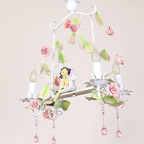 Angel E14 chandelier flower garden irom pendant light restaurant children