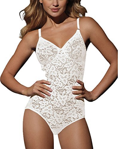 Bali Lace 'N Smooth BodyBriefer, White, ()
