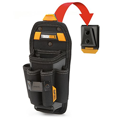 ToughBuilt - Technician 6 Pocket Pouch (Large) | 8 Pockets & Loops, Adjustable Pocket, Secure 4 Snug-fit Screwdriver, New Accessories, Multi-Tool Organizer (ClipTech Hub & Belts) (TB-CT-36-L6)