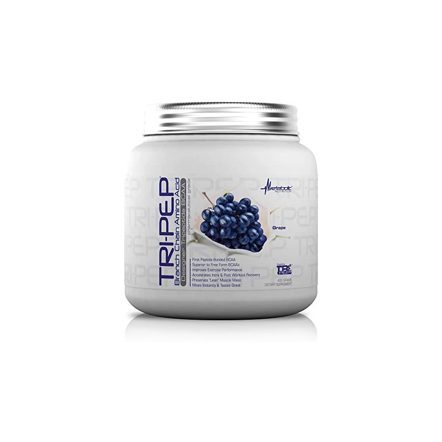 Metabolic Nutrition, TRIPEP, 100% Tri Peptide Branch Chain Amino Acid, BCAA Powder, Pre Intra Post Workout Supplement, 400 Grams (40 Servings)