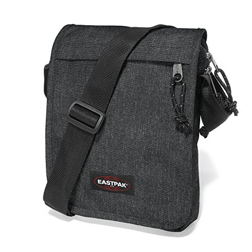 Eastpak Flex Bolso Bandolera, 3.5 litros, Gris (Sunday Grey) Negro (Black Denim)
