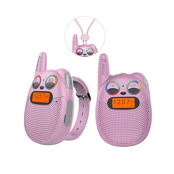 Qniglo Kids Walkie Talkies Rechargeable 22 Channel Kids Toy Walkie Talkies for Kids and Adult for Hiking,Camping,Running