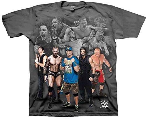 WWE Little Boys' Champ T-Shirt Shirt, Charcoal, Medium-5/6 by WWE