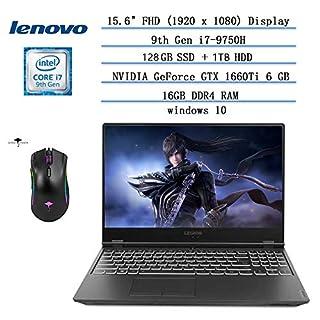"2020 Newest Lenovo Legion Y540 15.6"" FHD Gaming Laptop,144Hz i7-9750H Hexa-Core(Beat i7-8565U),16GB RAM,128GB SSD+1TB HDD,NVIDIA GTX 1660Ti 6GB GDDR6,Legion Ultimate Support /Ghost Manta Gaming Mouse"