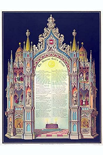 "Buyenlarge 0-587-24855-6-P1218 Symbols-Masonic Lord's Prayer Paper Poster, 12"" x 18"" from Buyenlarge"