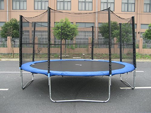Exacme S14 Trampoline with Enclosure Net & Ladder All-in-...