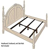 Glideaway GS-3 XS X-Support Steel Bedding Support System - 3 Cross Rails - 3 Legs