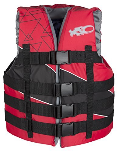 X2O 4-Buckle Adjustable Poly Vest, Red, XX-Large/3X-Large (Vest Buckle 4 Mens)