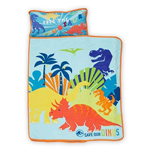 Jurassic World Dinosaurs Kids Nap Mat with Blanket