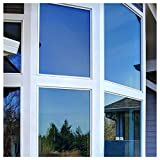 BDF PRBL Window Film Premium Color High Heat Control and Daytime Privacy Blue (60in X 25ft)