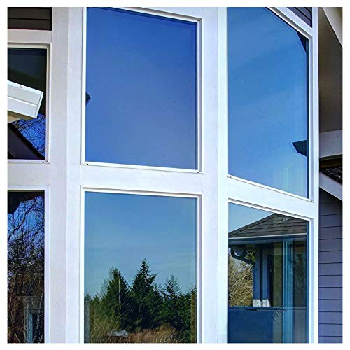 (BDF PRBL Window Film Premium Color High Heat Control and Daytime Privacy Blue (24in X 24ft) )