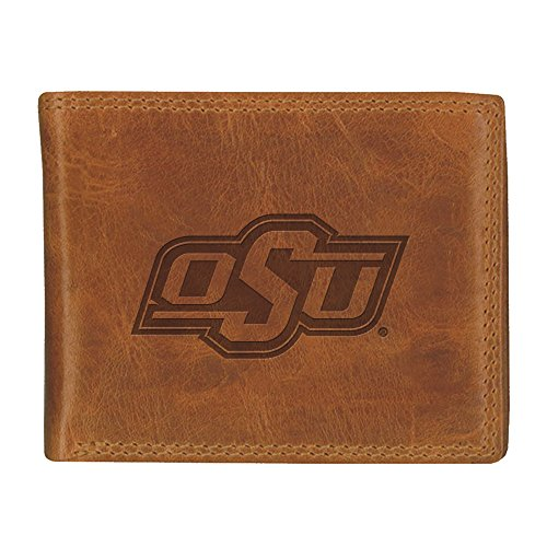 Oklahoma State University Westbridge Leather Wallet - College Wallet Bi Fold State
