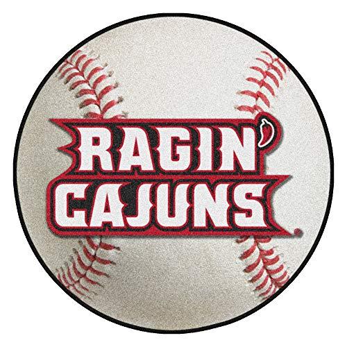 FANMATS NCAA Louisiana-Lafayette Ragin' Cajuns Nylon Face Baseball Rug