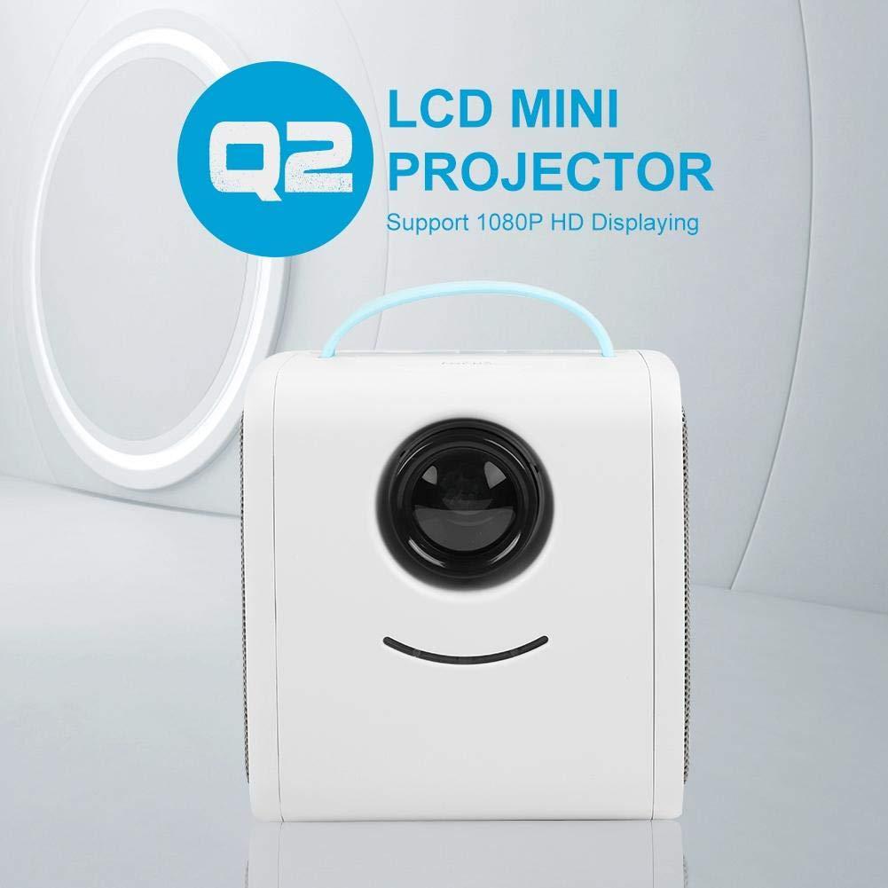 proyector port/átil multiling/üe de Cine en casa de 2500 l/úmenes Lazmin Mini proyector LED Full HD 1080p Compatible Azul