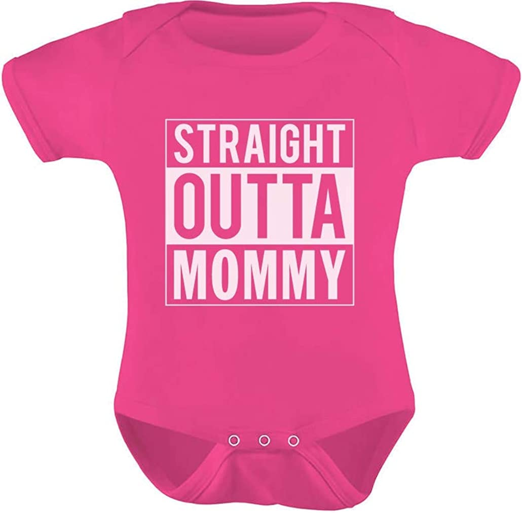 Straight Outta Mommy Newborn Outfit Baby Boy Baby Girl Mom Gift Baby Bodysuit