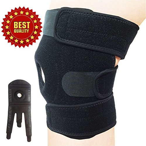Best Knee Brace for Pain Relief - Neoprene Knee Brace for Orthopedic, Ostearthritis, Arthritis,Meniscus Tear, ACL, Running, Hiking, Walking, Football, Basketball, Volleyball, Men, Women