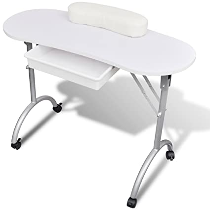 Amazon.com: UBaymax Foldable Portable Sturdy Manicure Table ...