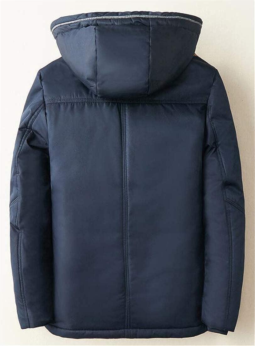 YYear Mens Thicken Warm Hooded Quilted Padded Waterproof Windbreaker Winter Puffer Jacket