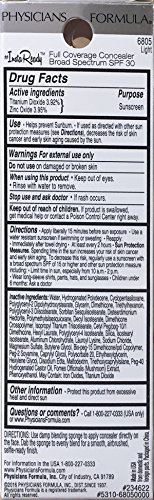 Physicians Formula Instaready Full Coverage SPF 30 Concealer, Light, 0.37 Ounce