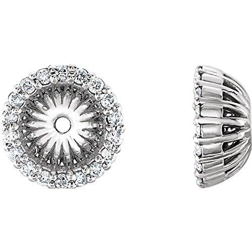 (Platinum 1/8 CTW Diamond Jackets Earring with 6.1 mm ID)