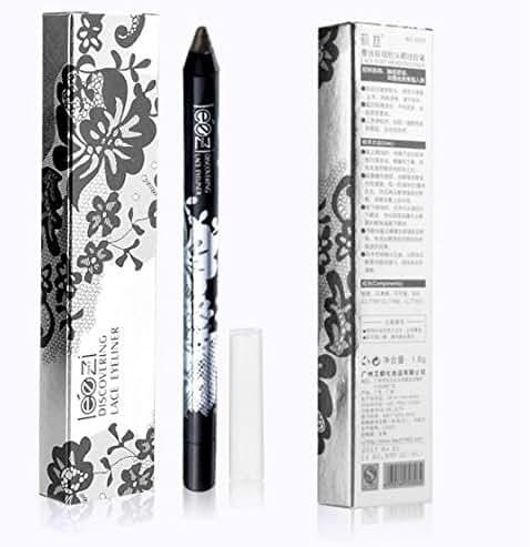 Makeup Gel Thin Design Waterproof Eyebrow Pen Black Eye Liner Pencil