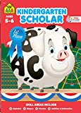 School Zone - Kindergarten Scholar Workbook - 64 Pages, Ages 5 to 6, Alphabet, Phonics, Shapes, Patterns, Counting, Addition & Subtraction, and More