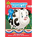 School Zone - Kindergarten Scholar Deluxe Edition Workbook, Ages 5 to 6, Alphabet, Phonics, Shapes, Patterns, Counting, Comprehension, Concentration, Graphs, and More