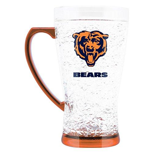NFL Chicago Bears 16oz Crystal Freezer Flared - Nfl Beer Glass